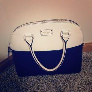Kate Spade Black/White Leather Shoulder Bag